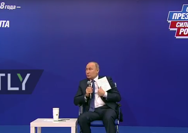 Setkání Putina s agitátory