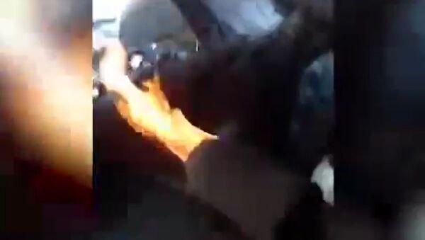 zahřívají sibirští řidiči kamionů - Sputnik Česká republika