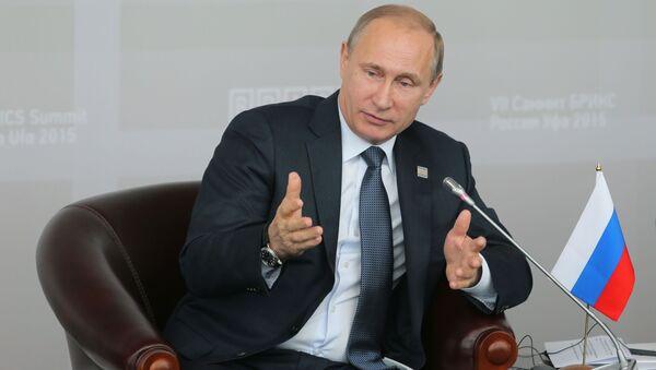 Ruský prezident Vladimir Putin v Ufě - Sputnik Česká republika
