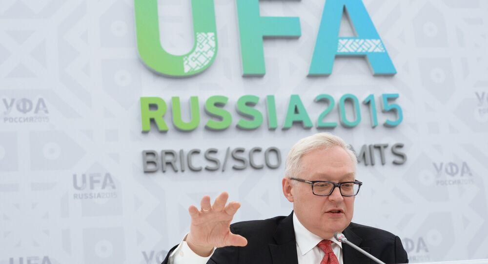 Náměstek ministra zahraničí Ruska Sergej Rjabkov