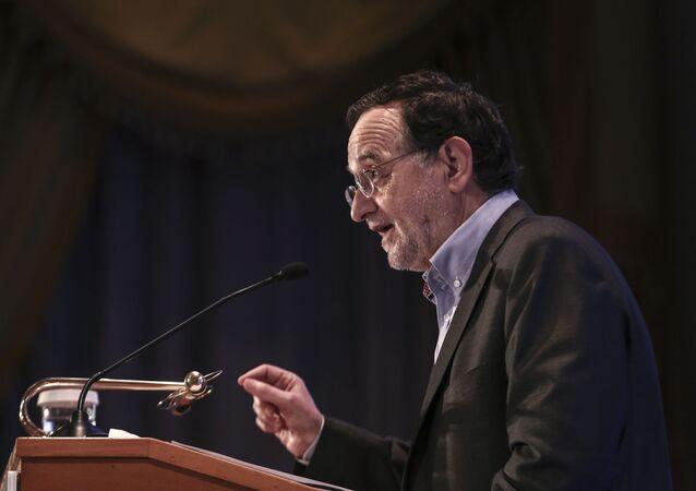 Řecký ministr energetiky Panagiotis Lafazanis