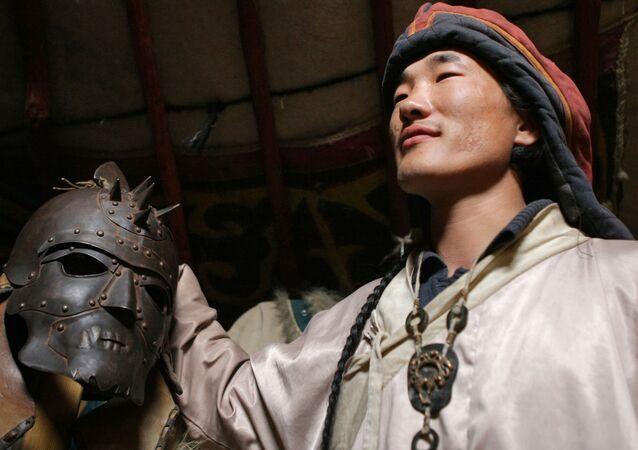 Šaman v jurtě, Mongolsko