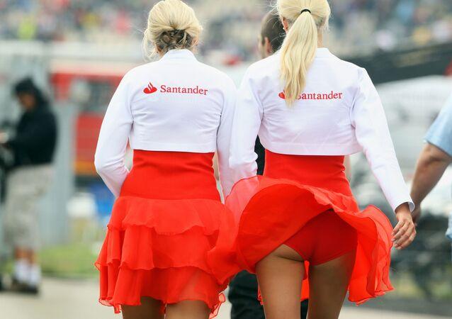 Grid girls na etapě Grand Prix Formule 1 v Německu