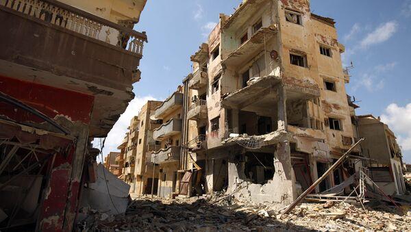 Destrukce v Benghází - Sputnik Česká republika