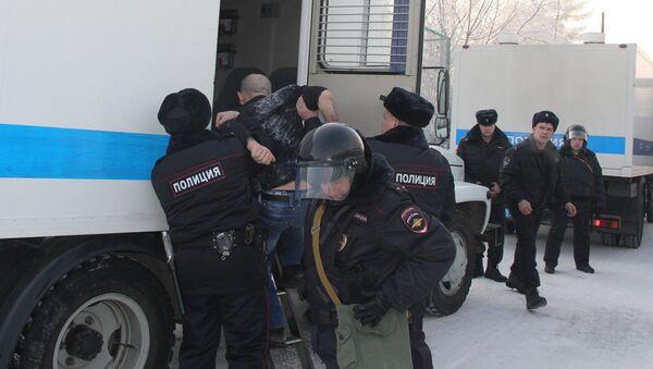 Policie po vzpouře u Krasnojarsku - Sputnik Česká republika