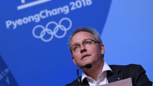 Generální sekretář Mathieu Rib na tiskové konferenci - Sputnik Česká republika