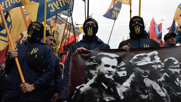 Mítink na památku vytvoření UPA - Sputnik Česká republika