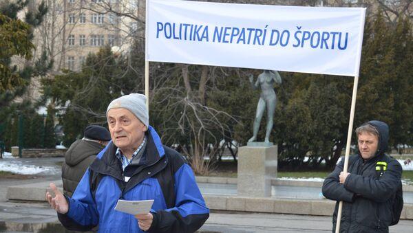 Protest na Šafárikovom námestí - Sputnik Česká republika