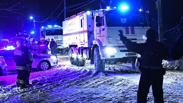 Záchranáři na místě pádu An-148 - Sputnik Česká republika