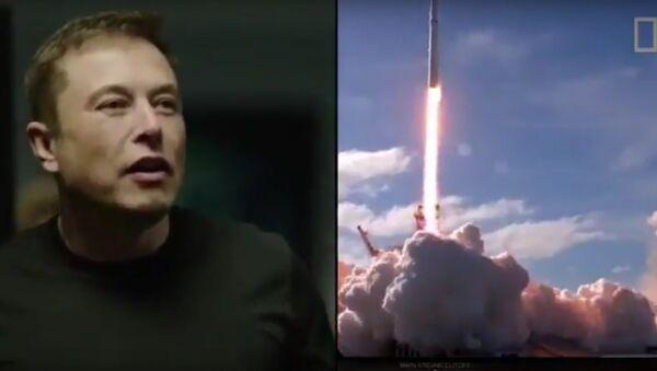 Reakce Elona Muska na start Falconu - Sputnik Česká republika