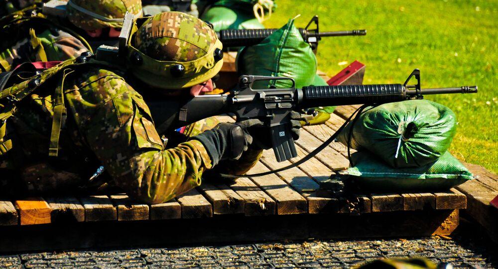 Výcvik slovenských vojáků