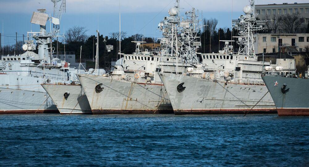 Bývalá ukrajinská flotila na Krymu