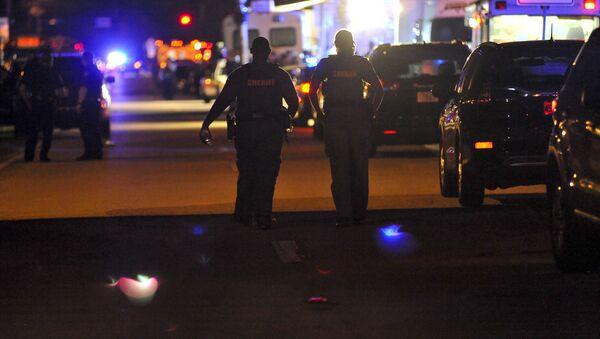Police na místě útoku na školu v Parklandu, Florida - Sputnik Česká republika