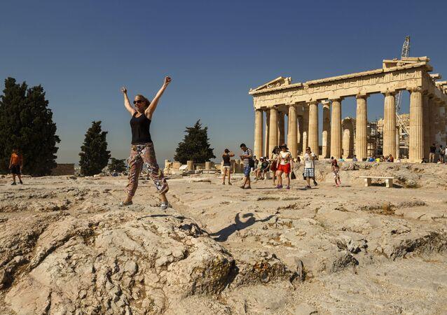 Parthenón v Athénské Akropoli