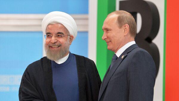 Prezidenti Ruska a Íránu - Sputnik Česká republika