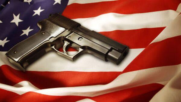 Pistole na americké vlajce - Sputnik Česká republika