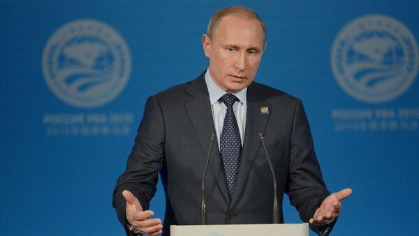 Vladimir Putin na tiskové konferenci podle výsledků summitů ŠOS a BRICS - Sputnik Česká republika