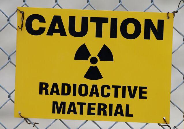 Varovný signál o radioaktivní látce