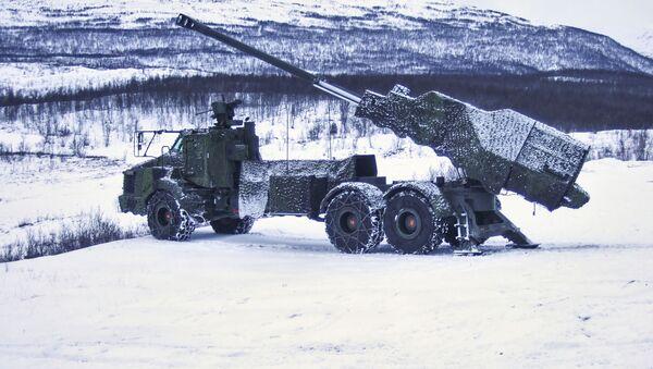 Švédská samohybná houfnice Archer ráže 155 mm - Sputnik Česká republika