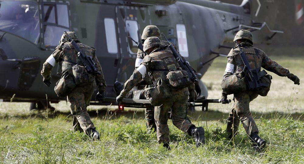 Němečtí vojáci během cvičení