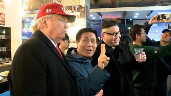 Pivo spojuje: Trump a Kim Čong-un zavítali do Českého domu (VIDEO) - Sputnik Česká republika