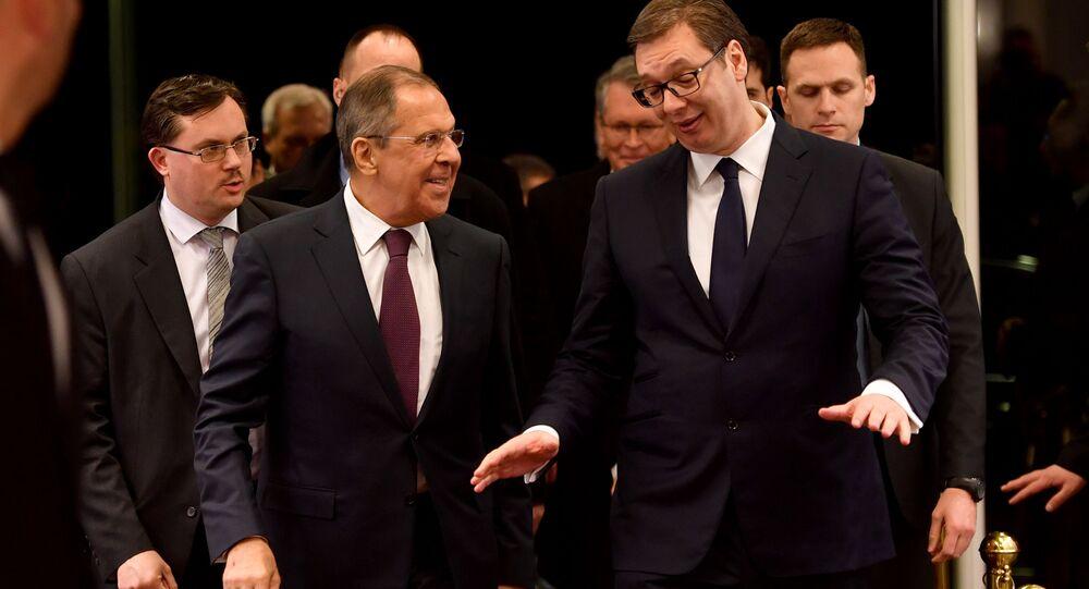 Alexandr Vučič a Sergej Lavrov, ilustrační foto