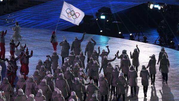 Olympijští sportovci z Ruska během zahajovacího ceremoniálu - Sputnik Česká republika