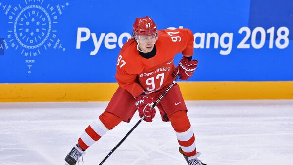 Ruský hokejista Nikita Gusev - Sputnik Česká republika