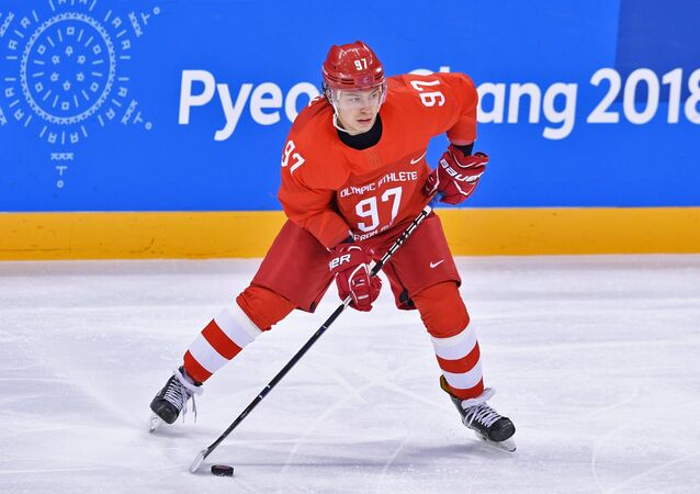 Ruský hokejista Nikita Gusev