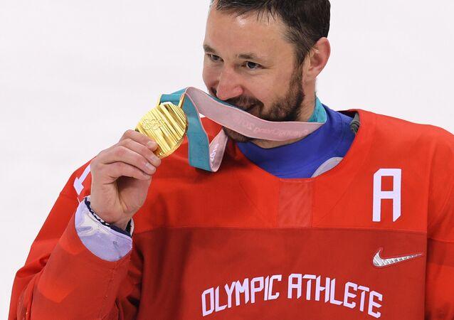 Ruský hokejista Ilja Kovalčuk