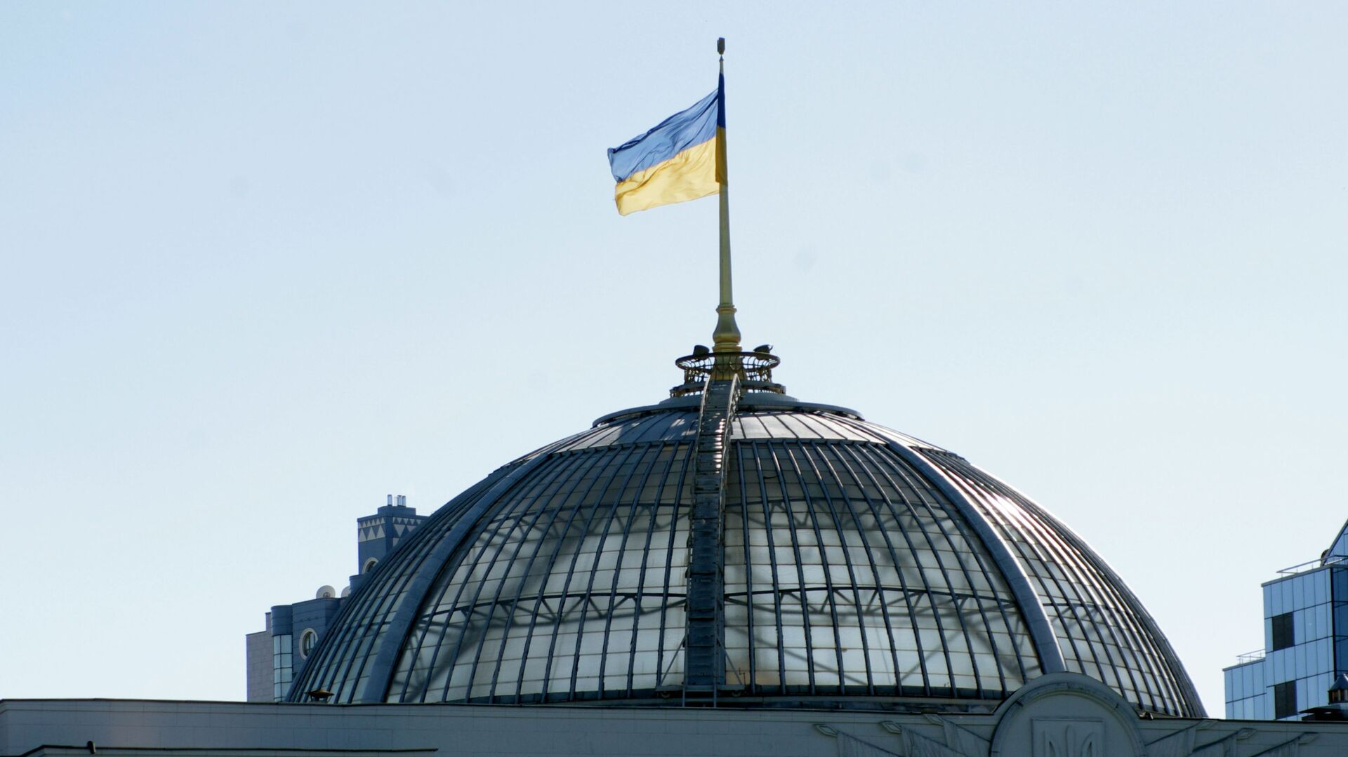 Ukrajinská vlajka na Nejvyšší radě - Sputnik Česká republika, 1920, 26.04.2021