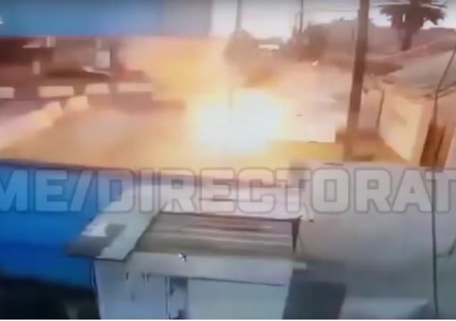 Kamera zaznamenala zmařenou misi sebevražedného útočníka