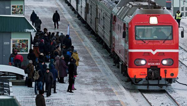 Vlak v Omsku - Sputnik Česká republika