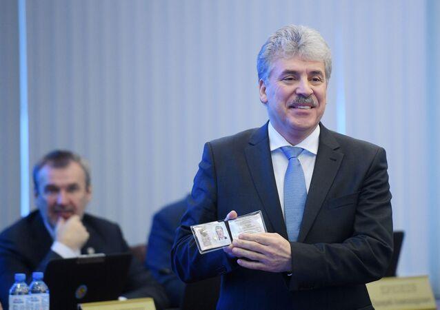 Kandidáti na prezidenta. Pavel Grudinin