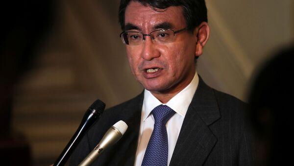 Ministr zahraničí Japonska Taró Kóno - Sputnik Česká republika