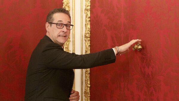 Vůdce pravicové Svobodné strany Rakouska (FPÖ) Heinz-Christian Strache - Sputnik Česká republika