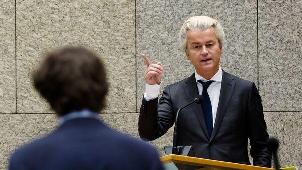 Člen nizozemského parlamentu a předák pravicové Strany svobody Geert Wilders - Sputnik Česká republika