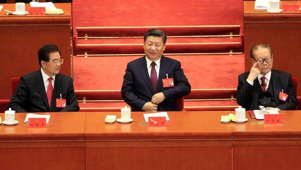 Prezident ČLR Si Ťin-pching ve Velkému sálu lidu. Archivní foto - Sputnik Česká republika