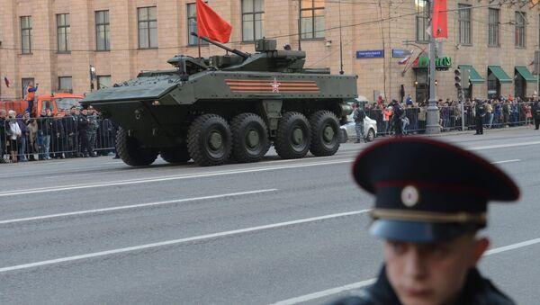 Obrněné vozidlo na kolovém podvazku Bumerang - Sputnik Česká republika
