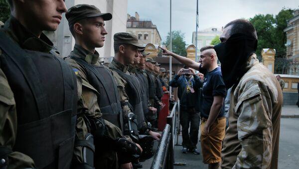 Aktivisté Pravého sektoru v Kyjevě - Sputnik Česká republika