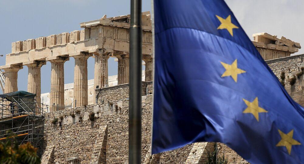 Athény, pohled na Akropolis