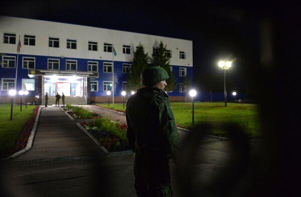 Zhroucení budovy vyučovacího centra Vzdušných výsadkových sil v Omsku - Sputnik Česká republika