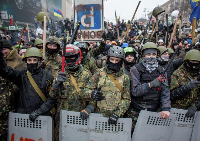Demonstrace na Majdanu v roce 2014