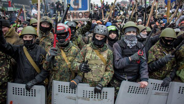 Demonstrace na Majdanu v roce 2014 - Sputnik Česká republika