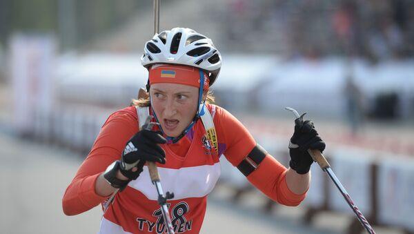 Ukrajinská biatlonistka Olga Abramova - Sputnik Česká republika