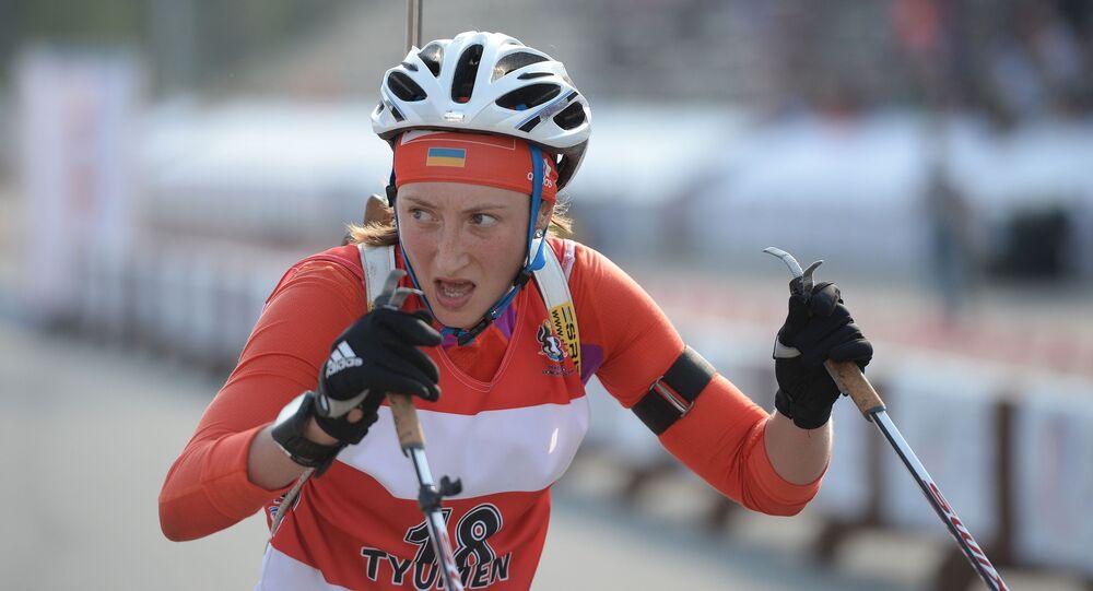Ukrajinská biatlonistka Olga Abramova