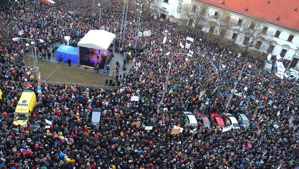 Protesty na Slovensku - Sputnik Česká republika