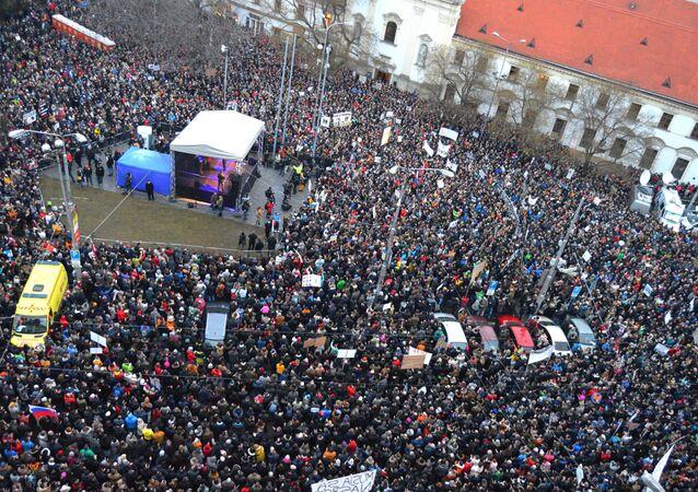 Protesty na Slovensku