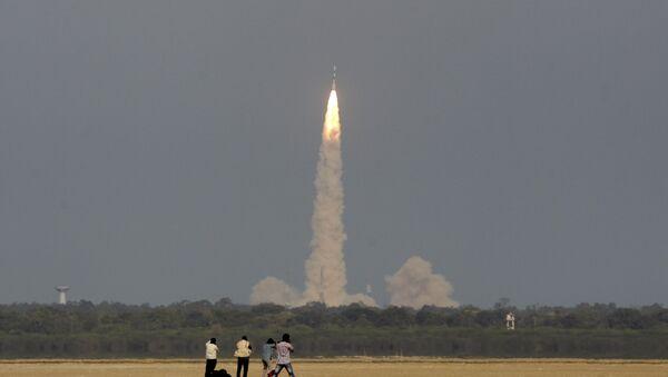 Indická družice IRNSS-1F (ilustrační foto) - Sputnik Česká republika