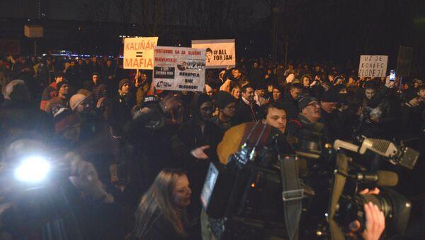 Pochod na Slovensku na památku zavražděného novináře Kuciaka - Sputnik Česká republika